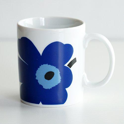 marimekko / Maija Isola [ UNIKKO ] old mug (blue)