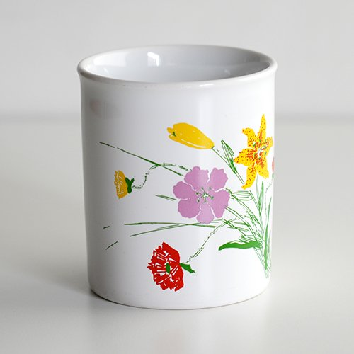 marimekko [ made in England - Flowers ] old mug