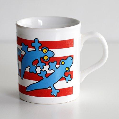 marimekko / Antti Eklund [ made in England - LISKO ] old mug (red)