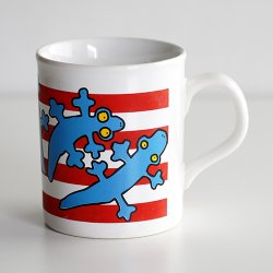 marimekko / Antti Eklund [ made in England - LISKO ] old mug (red)