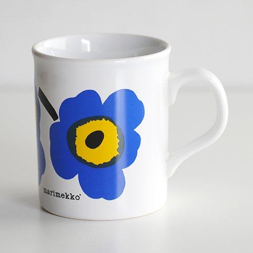marimekko / Maija Isola [ made in England - UNIKKO ] old mug (blue)