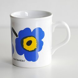 marimekko / Maija Isola [ made in England - UNIKKO ] old mug (blue)