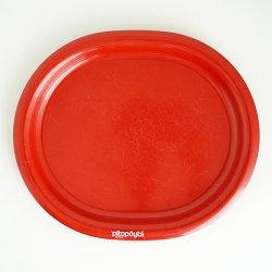 SARVIS / Kaj Franck [ Pitopoyta - Easy Day ] melamine 26cm oval plate シールあり