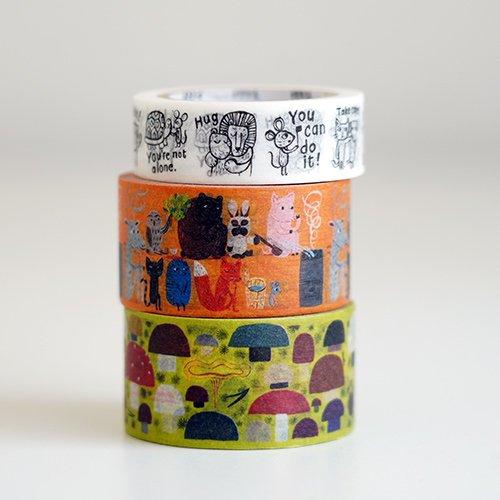 mt × Matti Pikkujamsa - マスキングテープ 3種セット