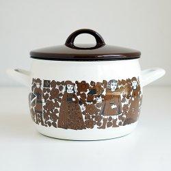 FINEL / Raija Uosikkinen [ RITARI ] enamel casserole