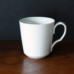 Royal Copenhagen [ White Fluted Plain ] mug