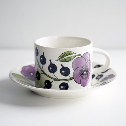 ARABIA / Birger Kaipiainen [ Paratiisi Purple ] teacup & saucer