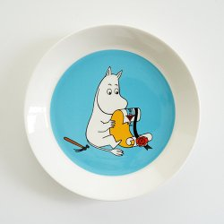 <img class='new_mark_img1' src='//img.shop-pro.jp/img/new/icons1.gif' style='border:none;display:inline;margin:0px;padding:0px;width:auto;' />ARABIA MOOMIN [ ムーミン ターコイズ ] 19cm plate
