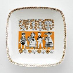 ARABIA / Raija Uosikkinen [ Jouluna 1963 Julen / KYMARNO ] decoration plate
