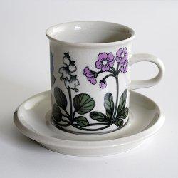 ARABIA / Esteri Tomula [ Flora ] coffeecup & saucer