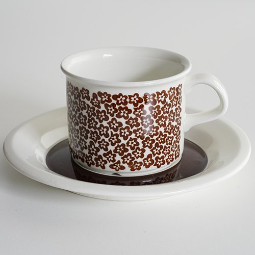 ARABIA / Inkeri Leivo [ Faenza ] coffeecup & saucer