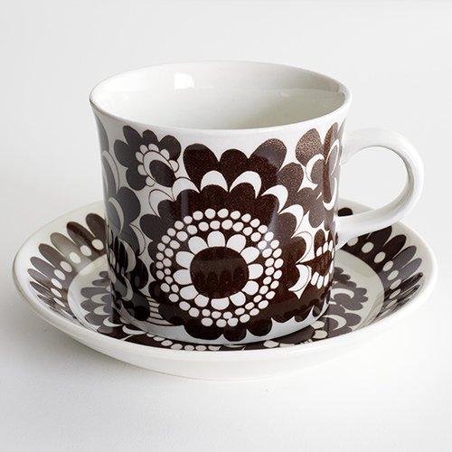 ARABIA / Esteri Tomula [ ARABIA 100 VUOTA 1973 ] mug & Plate (brown)