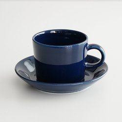 ARABIA / Kaj Franck [ OLD TEEMA ] coffeecup & saucer (140ml/blue)