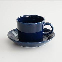 <img class='new_mark_img1' src='https://img.shop-pro.jp/img/new/icons48.gif' style='border:none;display:inline;margin:0px;padding:0px;width:auto;' />ARABIA / Kaj Franck [ OLD TEEMA ] coffeecup & saucer (140ml/blue)