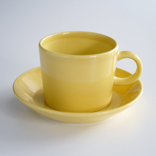 ARABIA / Kaj Franck [ OLD TEEMA ] coffeecup & saucer (140ml/yellow)
