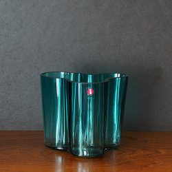 iittala / Alvar Aalto [ Alvar Aalto Collection ] flower vase (95mm/sea blue)