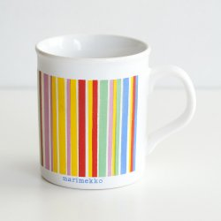 <img class='new_mark_img1' src='https://img.shop-pro.jp/img/new/icons48.gif' style='border:none;display:inline;margin:0px;padding:0px;width:auto;' />marimekko [ made in England ] old mug (multi color stripe)