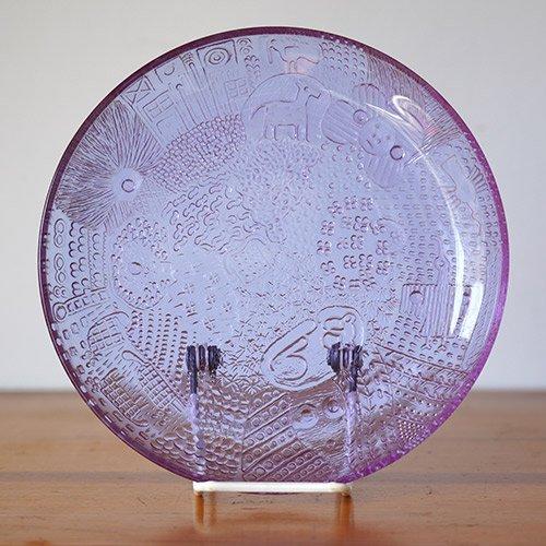 Nuutajarvi / Oiva Toikka [ Fauna ] 17cm plate (amethyst)