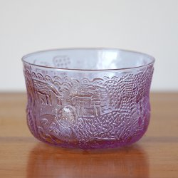 Nuutajarvi / Oiva Toikka [ Fauna ] D95mm desert bowl (amethyst)