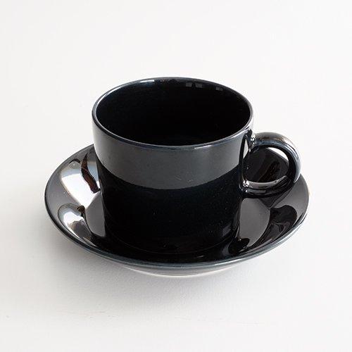 ARABIA / Kaj Franck [ OLD TEEMA ] coffeecup & saucer (140ml/black)
