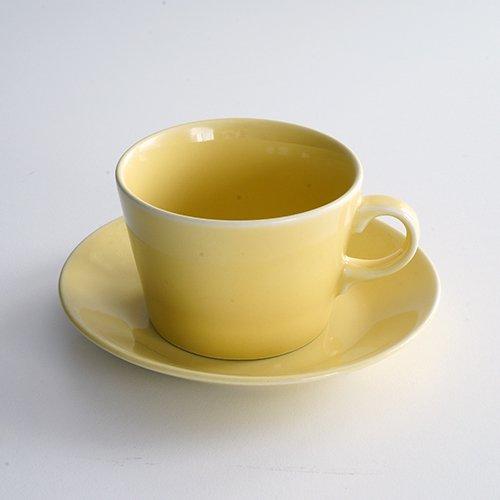 ARABIA / Kaj Franck [ KILTA ] coffeecup & saucer (yellow)