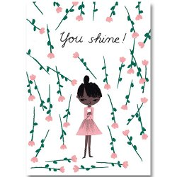 Kehvola Design / Marika Maijala [ You Shine! ] postcard