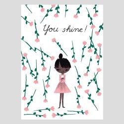 Kehvola Design / Marika Maijala [ You Shine! ] postcard