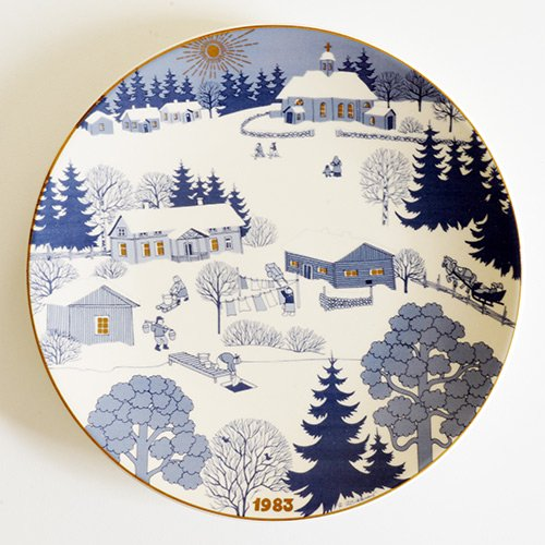 ARABIA / Raija Uosikkinen [ JOULULAUTANEN ] christmas plate(1983年)