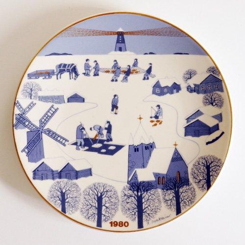 ARABIA / Raija Uosikkinen [ JOULULAUTANEN ] christmas plate(1980年)