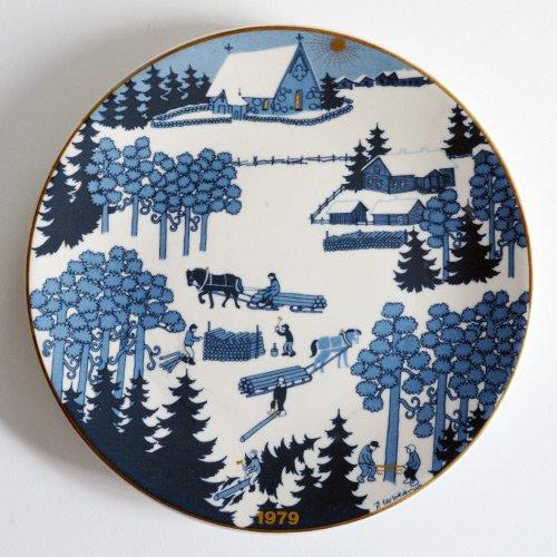 ARABIA / Raija Uosikkinen [ JOULULAUTANEN ] christmas plate(1979年)