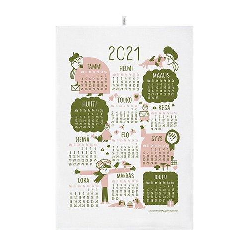KAUNISTE FINLAND [ 2021年カレンダー ] キッチンタオル(ピンク)