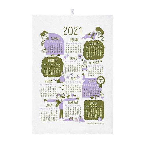 KAUNISTE FINLAND [ 2021年カレンダー ] キッチンタオル(ライラック)
