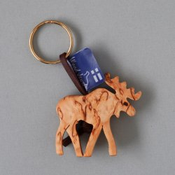Wood Jewel Finland - 白樺のキーホルダー(エルク)