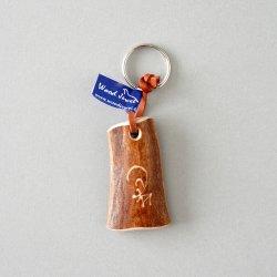 Wood Jewel Finland - トナカイ角のキーホルダー