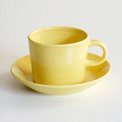 ARABIA / Kaj Franck [ OLD TEEMA ] coffeecup & saucer (140ml/yellow)