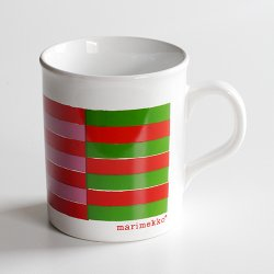 marimekko [ made in England ] old mug (multi color)
