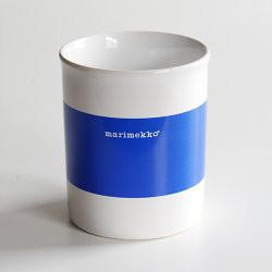 marimekko [ made in England ] old mug (LOGO blue)