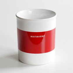 marimekko [ made in England ] old mug (LOGO red)