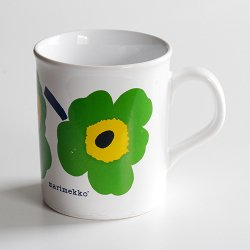 marimekko / Maija Isola [ made in England - UNIKKO ] old mug (green)