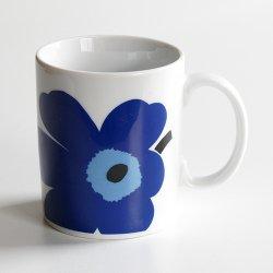 marimekko / Maija Isola [ UNIKKO 2005 ] old mug (blue)