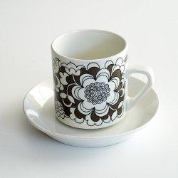 ARABIA / Esteri Tomula [ Gardenia ] coffeecup & saucer