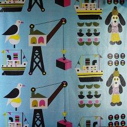 marimekko / Jenni Tuominen [ LAIVA-KOIRA ] used fabric