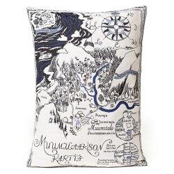 Aurora Decorari - ムーミンのゴブラン織りクッションカバー 33x46cm(ムーミン谷の地図)