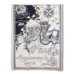 Aurora Decorari - ムーミンのゴブラン織りタペストリー(ムーミン谷の地図)
