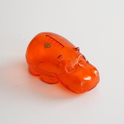 Osuuspankki [ HIPPO ] 貯金箱(ミニサイズ クリアオレンジ)