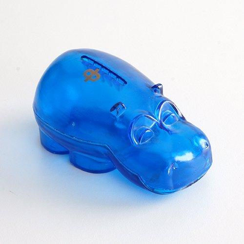 Osuuspankki [ HIPPO ] 貯金箱(ミニサイズ クリアブルー)