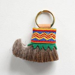 トナカイ毛皮のキーホルダー (GREEN)