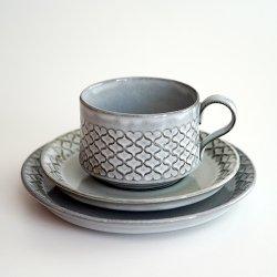 Bing&Grondahl / Jens.H.Quistgaard [ CORDIAL ] cup&saucer + 16.5cm plate