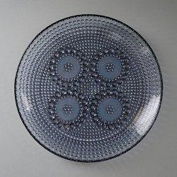 Riihimaen Lasi / Nanny Still [ Grapponia ] 22cm plate
