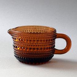 Nuutajarvi / Oiva Toikka [ Kastehelmi ] creamer (brown)